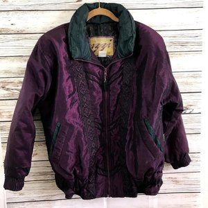 Vintage 90s Izzi Purple Shiny Puffer Coat